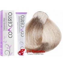 Крем-краска перманентная с кератином, экстрактом мальвы и витамином С Concerto Color Treatment Punti di Vista 10,1 Суперосветляющий пепельный блондин, 100 мл