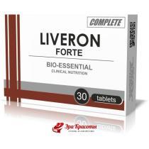 Диетическая добавка гепатопротекторный фитокомплекс Ливерон Форте Liveron Forte Complete Pharma таблетки, №30
