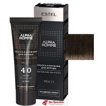 Краска-камуфляж для бороды 4/0 шатен Alpha Homme Estel, 40 мл