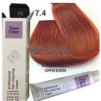 Крем-краска 7.4 Tiarecolor Hair Coloring Cream, 60 мл