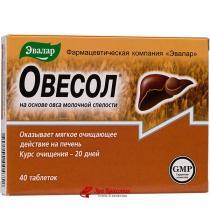 Овесол для очищения печени и желчевыводящих путей Эвалар, таблетки 0,25 г №40