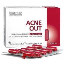 Витаминно-минеральный комплекс для жирной и склонной к акне кожи Buds Biotrade Acne Out, капсулы №30