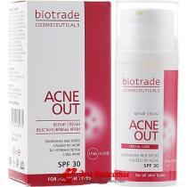 Крем восстанавливающий для кожи с видимыми дефектами и пятнами постакне SPF 30 Biotrade Acne Out, 30мл