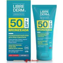 Крем солнцезащитный для лица и тела против пигментных пятен SPF 50 Sun Protection Cream Bronzeada Librederm, 50 мл