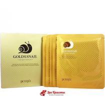 Гидрогелевая маска для лица с золотом и улиткой Petitfee Gold and Snail Hydrogel Mask, 30 г*5 шт