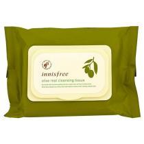 Очищающие салфетки для лица с экстрактом оливы Innisfree Olive Real Cleansing Tissue, 30 шт