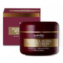 Крем для лица с фильтратом муцина улитки Eyenlip Snail All in One Repair Cream, 100 мл