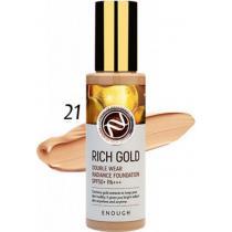 Тональный крем с золотом Тон 21 Enough Rich Gold Double Wear Radiance Foundation SPF50+, 100 мл