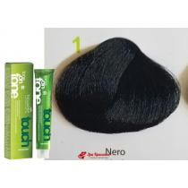 Безаммиачная крем-краска для волос 1 Черный Nouvelle Touch, 60 мл