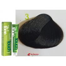 Безаммиачная крем-краска для волос 3 Темно-каштановый Nouvelle Touch, 60 мл