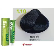 Безаммиачная крем-краска для волос 1.10 Иссиня-черный Nouvelle Touch, 60 мл