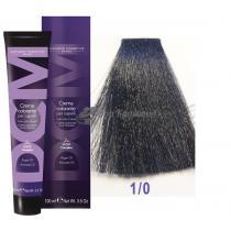 Крем-краска для волос 1/0 черный Hair color cream DCM. 100 мл