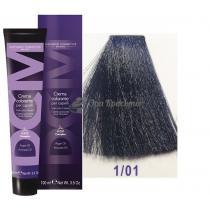 Крем-краска для волос 1/01 иссиня-черный Hair color cream DCM. 100 мл