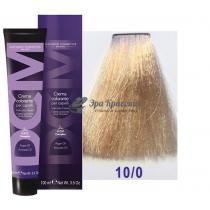 Крем-краска для волос 10/0 очень светлый блондин платиновый натуральный Hair color cream DCM. 100 мл