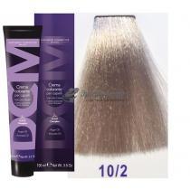 Крем-краска для волос 10/2 очень светлый блондин платиновый пепельный Hair color cream DCM. 100 мл