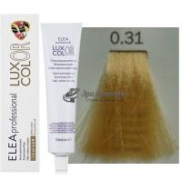 Безаммиачная крем-краска 0.31 золотисто-пепельный Color Elea Professional Luxor, 60 мл