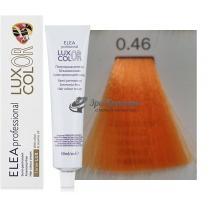 Безаммиачная крем-краска 0.46 медно-красный Color Elea Professional Luxor, 60 мл