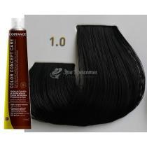 Безаммиачная тонирующая краска для волос 1.0 Чёрный Color Concept Care Coiffance, 100 мл