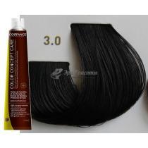 Безаммиачная тонирующая краска для волос 3.0 Тёмно-каштановый Color Concept Care Coiffance, 100 мл