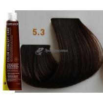 Безаммиачная тонирующая краска для волос 5.3 Светло-каштановый золотистый Color Concept Care Coiffance, 100 мл