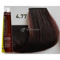 Безаммиачная тонирующая краска для волос 4.77 Каштановый интенсивный коричневый Color Concept Care Coiffance, 100 мл