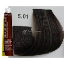 Безаммиачная тонирующая краска для волос 5.01 Светло-каштановый натурально-пепельный Color Concept Care Coiffance, 100 мл