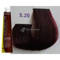 Безаммиачная тонирующая краска для волос 5.20 Светло-каштановый фиолетовый Color Concept Care Coiffance, 100 мл