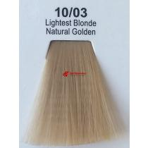 Краска для волос стойкая 10.03 Яркий Блонд Золотистый Натуральный Master Lux, 60 мл