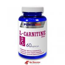 L-карнитин L-Carnitine Powerful, капсулы 1,0 г № 60
