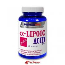 Альфа-липоевая кислота Alfa-Lipoic Acid Powerful антиоксидантные свойства, капсулы 1,0 г № 60