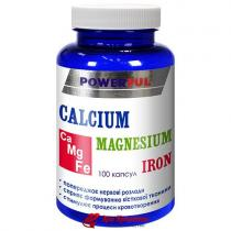 Кальций, магний, железо Calcium, Magnesium, Iron Powerful, капсулы 1,0 г № 100