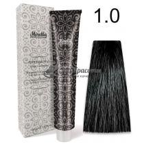 Краска для волос 1.0 черный Mirella Professional, 60 мл