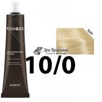 Безаммиачная стойкая краска для волос 10/0 Экстра светло-русый натуральный Echoes Premium Subrina, 60 мл