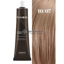 Безаммиачная стойкая краска для волос 10/07 Натуральный коричневый Echoes Premium Subrina, 60 мл