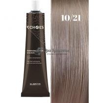 Безаммиачная стойкая краска для волос 10/21 Жемчужно-пепельный Echoes Premium Subrina, 60 мл