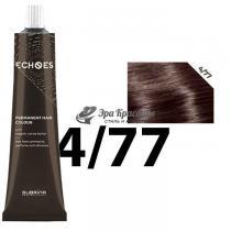 Безаммиачная стойкая краска для волос 4/77 Тёплый интенсивно коричневый Echoes Premium Subrina, 60 мл