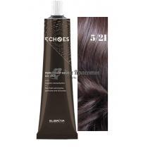 Безаммиачная стойкая краска для волос 5/21 Жемчужно-пепельный Echoes Premium Subrina, 60 мл