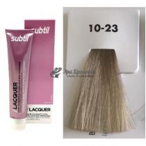 Безаммиачная тонирующая гелевая краска 10.23 светлый блондин перламутрово-бежевый Lacquer Ducastel Subtil, 60 мл