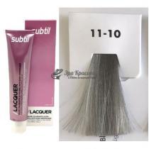 Безаммиачная тонирующая гелевая краска 11.10 блондин серебристый Lacquer Ducastel Subtil, 60 мл