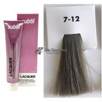 Безаммиачная тонирующая гелевая краска 7.12 блондин пепельно-перламутровый Lacquer Ducastel Subtil, 60 мл
