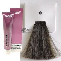 Безаммиачная тонирующая гелевая краска 6 тёмный блондин Lacquer Ducastel Subtil, 60 мл
