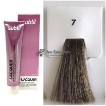 Безаммиачная тонирующая гелевая краска 7 блондин Lacquer Ducastel Subtil, 60 мл