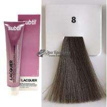 Безаммиачная тонирующая гелевая краска 8 светлый блондин Lacquer Ducastel Subtil, 60 мл