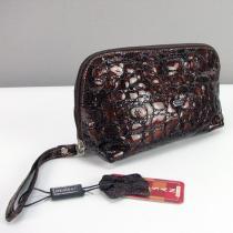 Косметичка кожаная женская клатч коричневая Desisan 064-4