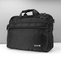 Сумка-портфель-рюкзак для ноутбука компьютера текстильная черная Epol 7024