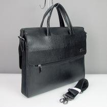 Портфель модерн кожзам черный Fashion 3086-2